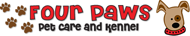 Four Paws Pet Care and Kennel - Website Logo